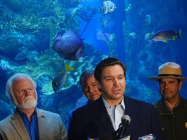 """Governor DeSantis Helps FORCE BLUE  Launch """"100 Yards of Hope"""""""