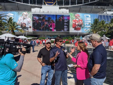 FORCE BLUE Interviewed During Super Bowl Pre-Game